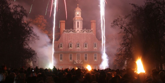 Colonial Williamsburg during Grand Illumination