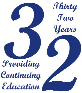 32 Years of Providing Continuing Education